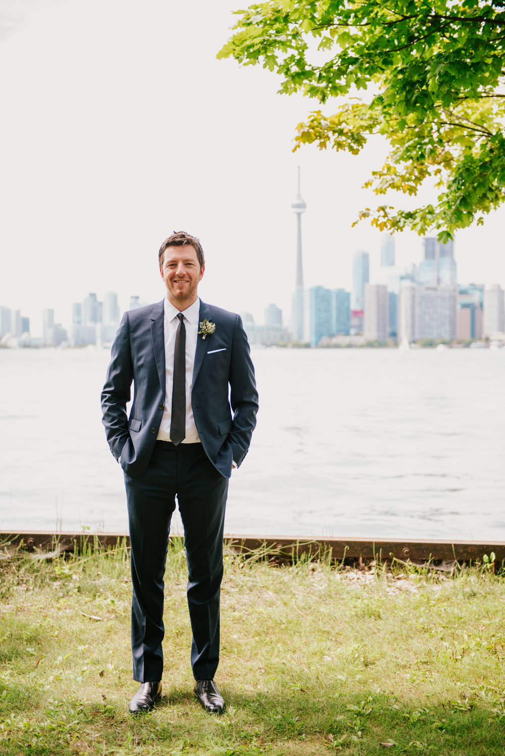 Toronto island wedding photography