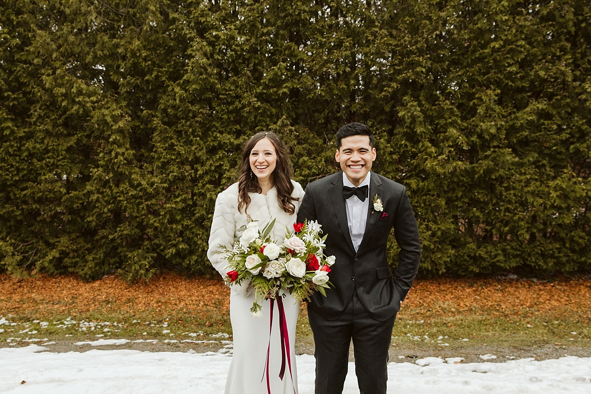 toronto winter wedding photography